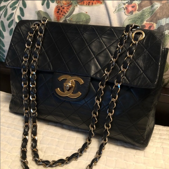 a990886c3d09 CHANEL Handbags - Authentic vintage Chanel maxi flap bag